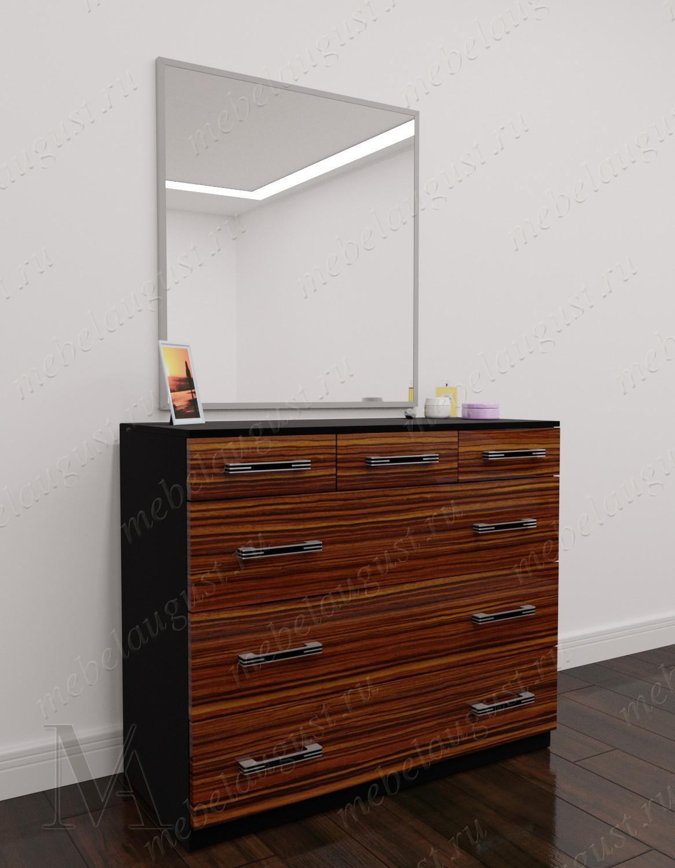 Глянцевый зеркальный комод для белья для спальни