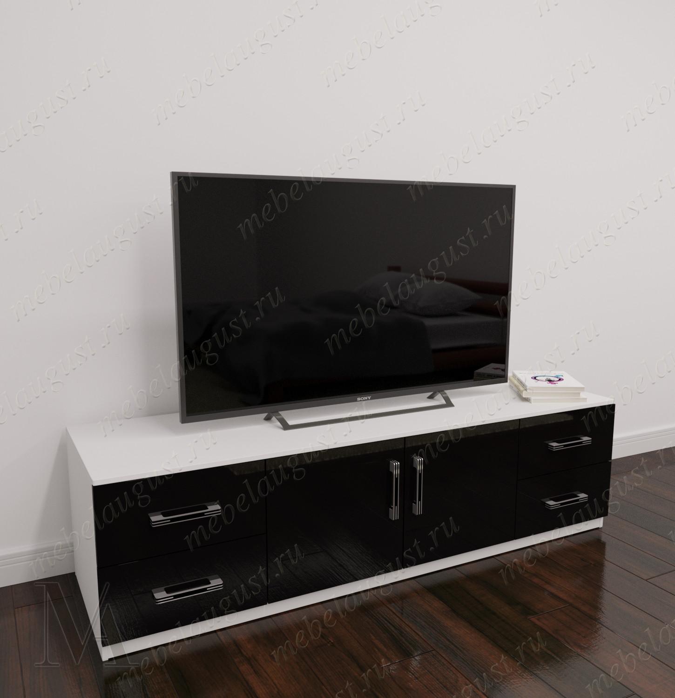 Низкий комод в гостиную с полкой для телевизора