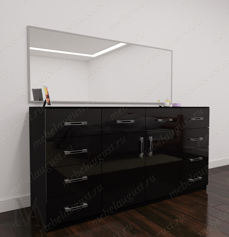 Зеркальный бельевой комод в спальню