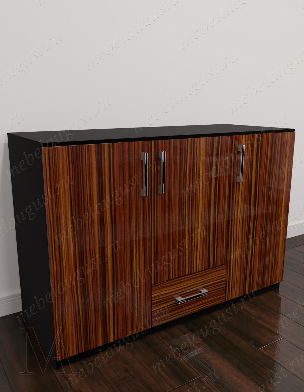 Комод для белья с выдвижным ящиком с дверками и ящиками
