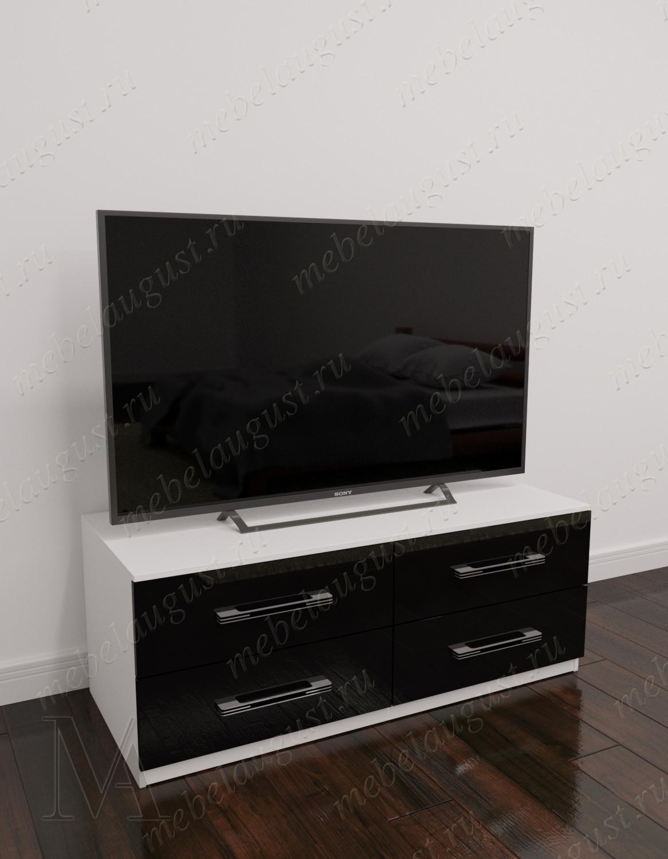 Комод в зал с четырьмя ящиками с полкой под телевизор