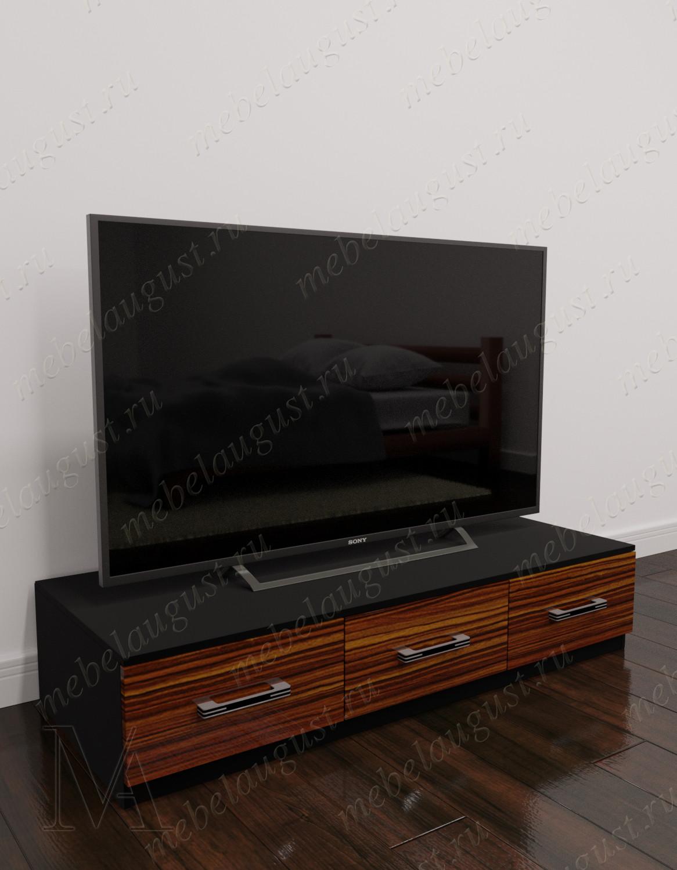 Глянцевый комод в гостиную под телевизор с 3-мя ящиками