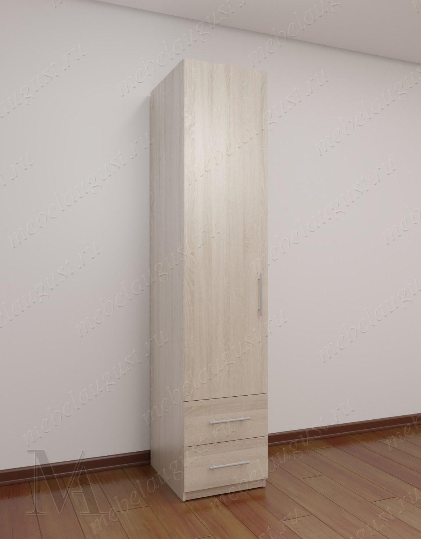 1-створчатый шкаф для одежды в коридор с ящиками для мелочей цвета ясень анкор темный