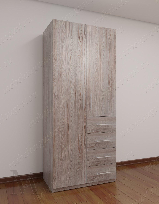 Двухдверный шкаф для одежды для спальни с ящиками для мелочей