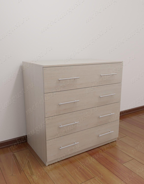 Комод для белья с 4-мя выдвижными ящиками в спальню цвета грэй фокс