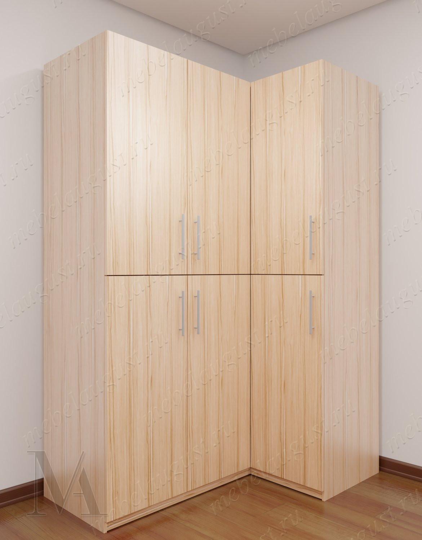 Трехстворчатый угловой шкаф для спальни