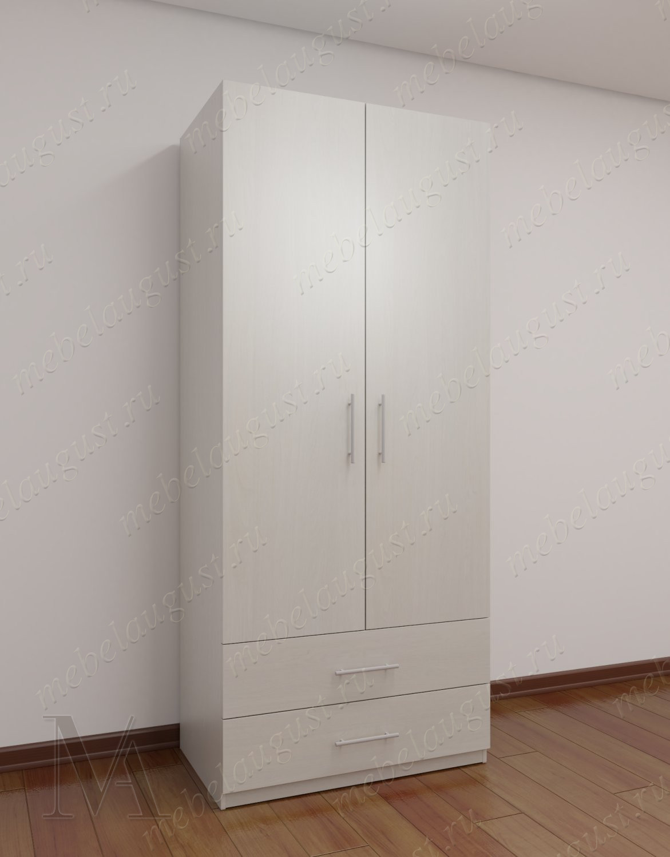 Шкаф с распашными дверцами для спальни с ящиками для мелочей шириной 80-90 см