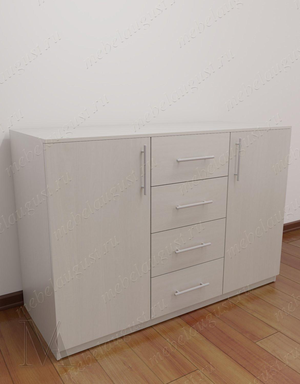 Бельевой комод с четырьмя выдвижными ящиками в спальню