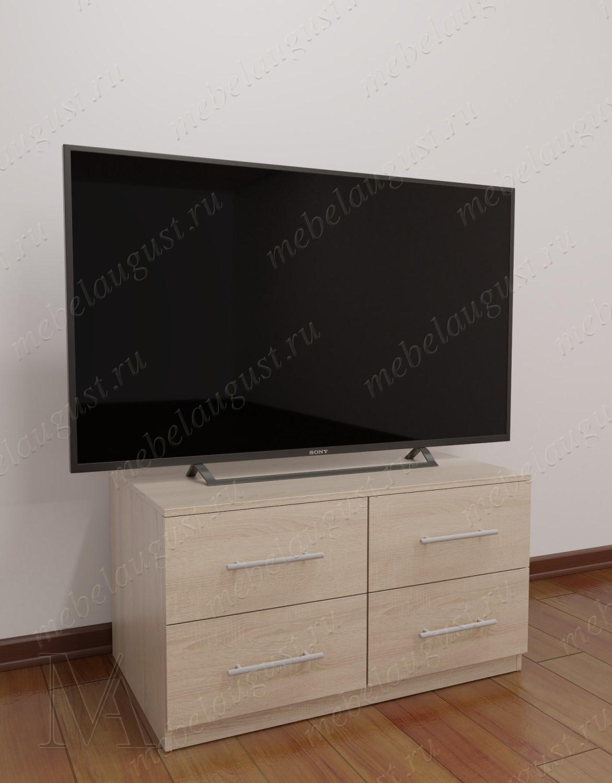 Маленький комод в зал с полкой для телевизора