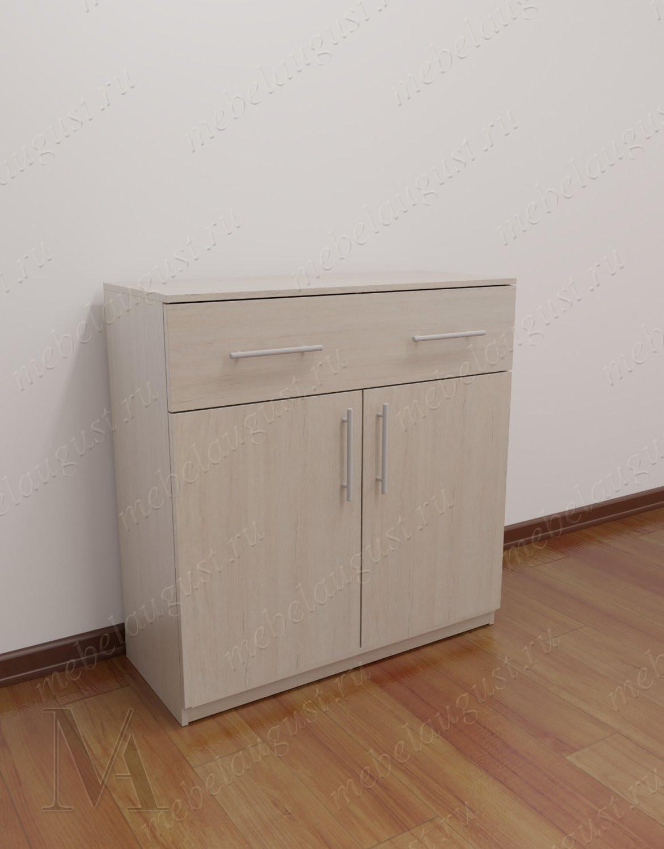 Малогабаритный комод для спальни с дверками и ящиками