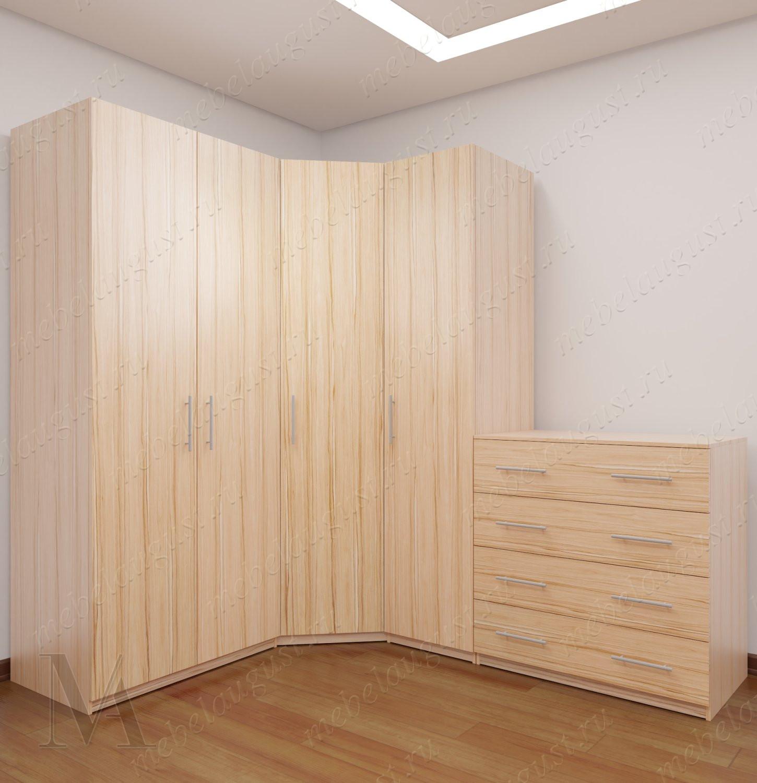 Модульный шкаф для одежды и белья для спальни шириной 160-180 см