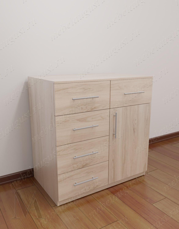 Малогабаритный комод для белья с дверками и ящиками