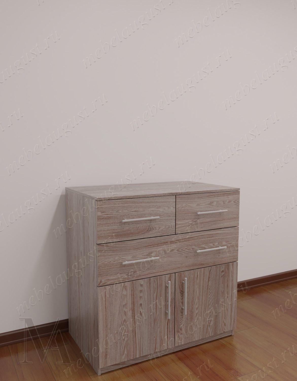 Малогабаритный комод для спальни с дверками и ящиками цвета пикар