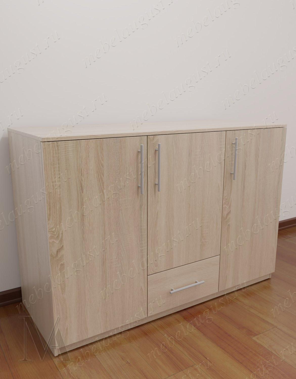 Бельевой комод с одним ящиком с дверками и ящиками