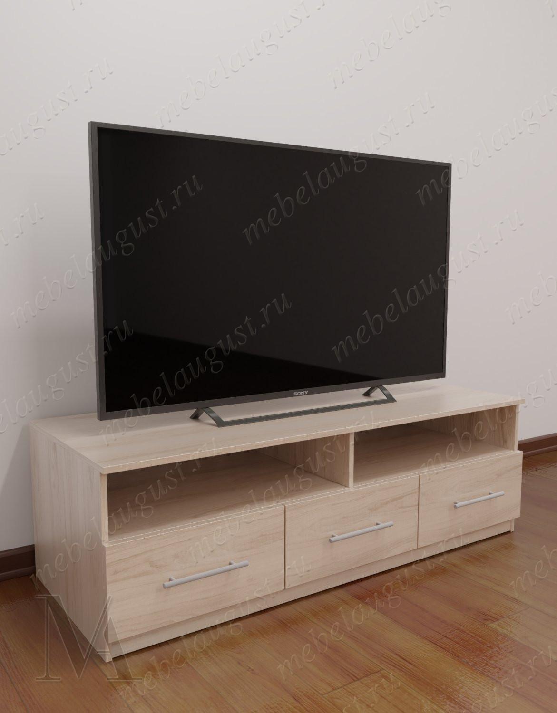 Бельевой комод под телевизор в кабинет цвета ясень анкор светлый
