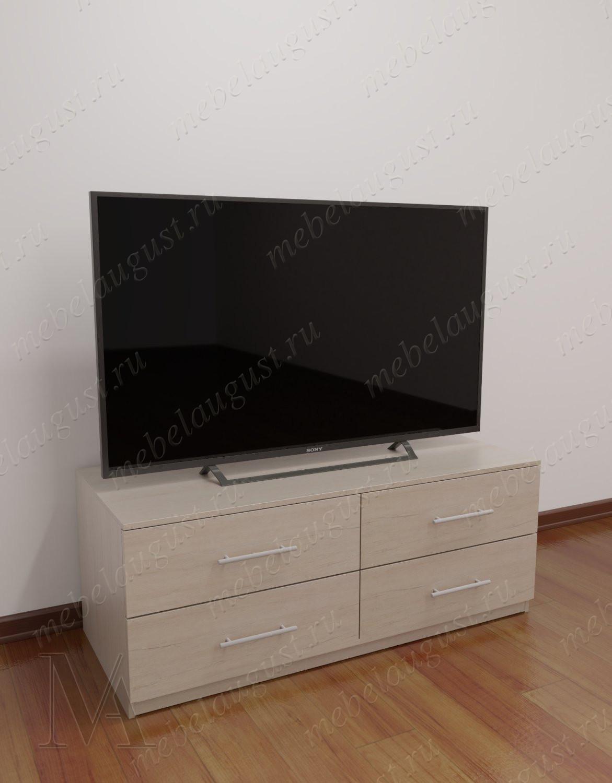 Бельевой комод в гостиную с полкой под телевизор