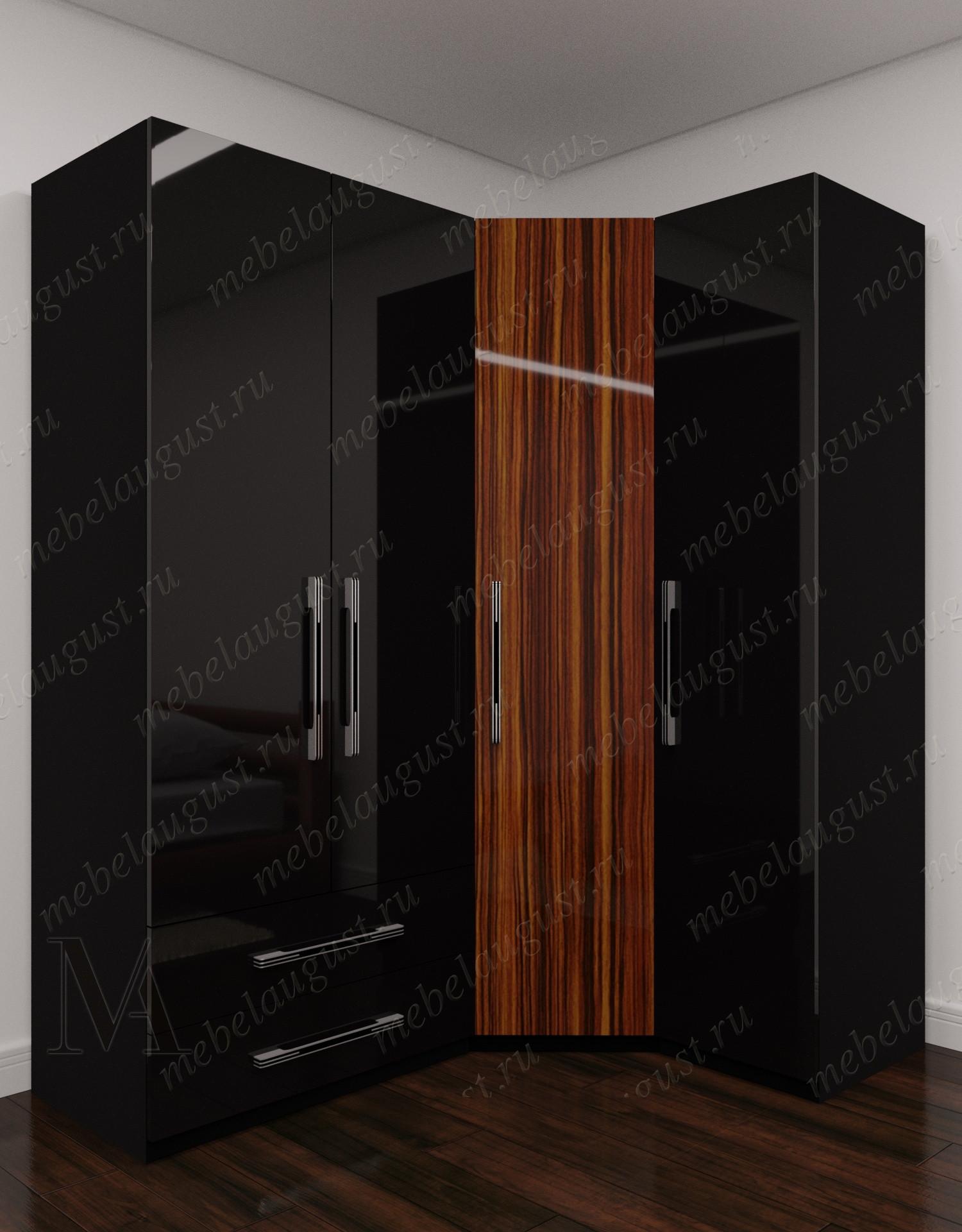 Большой распашной шкаф для одежды с ящиками для мелочей в спальню