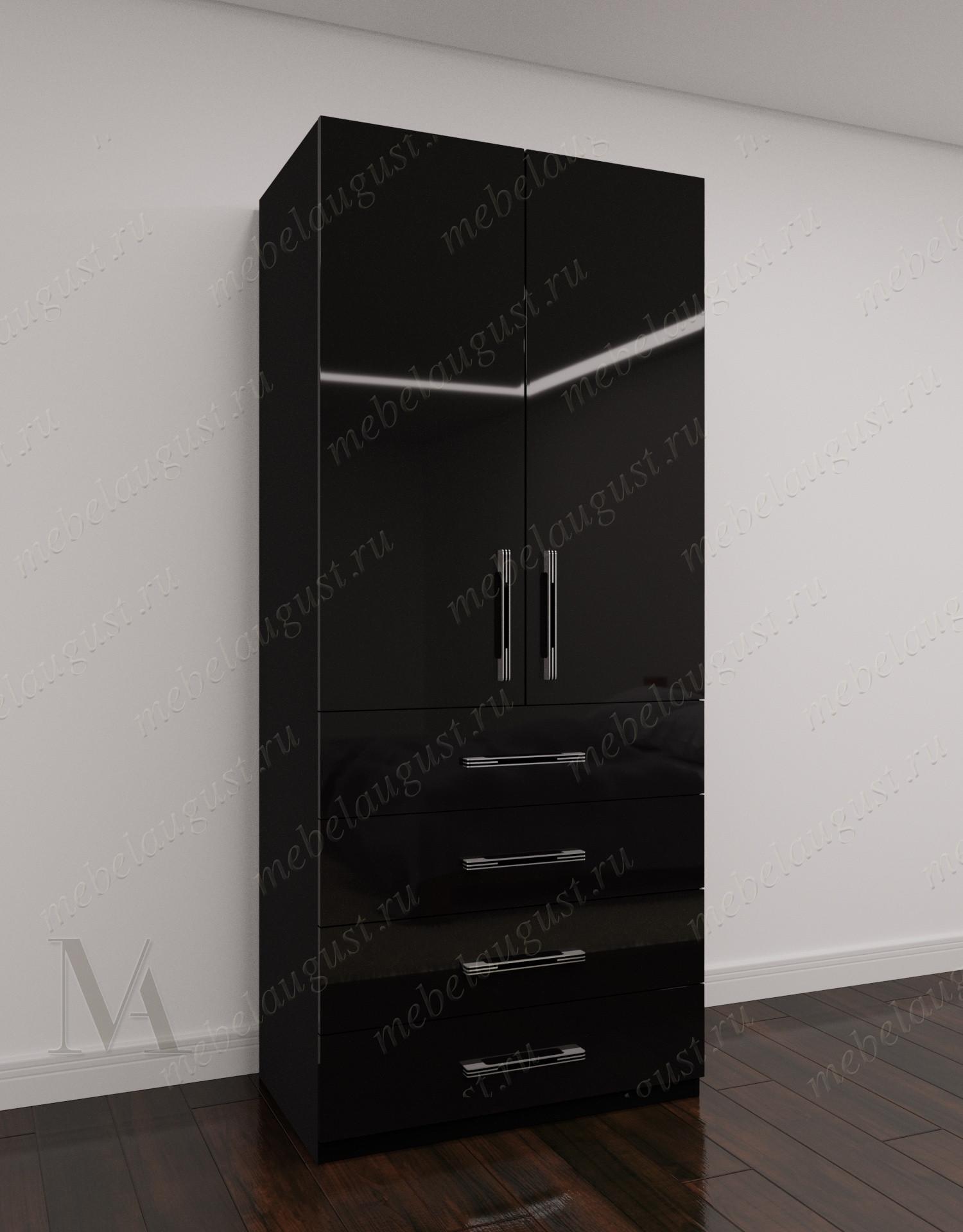 2-створчатый распашной шкаф для одежды для спальни с ящиками