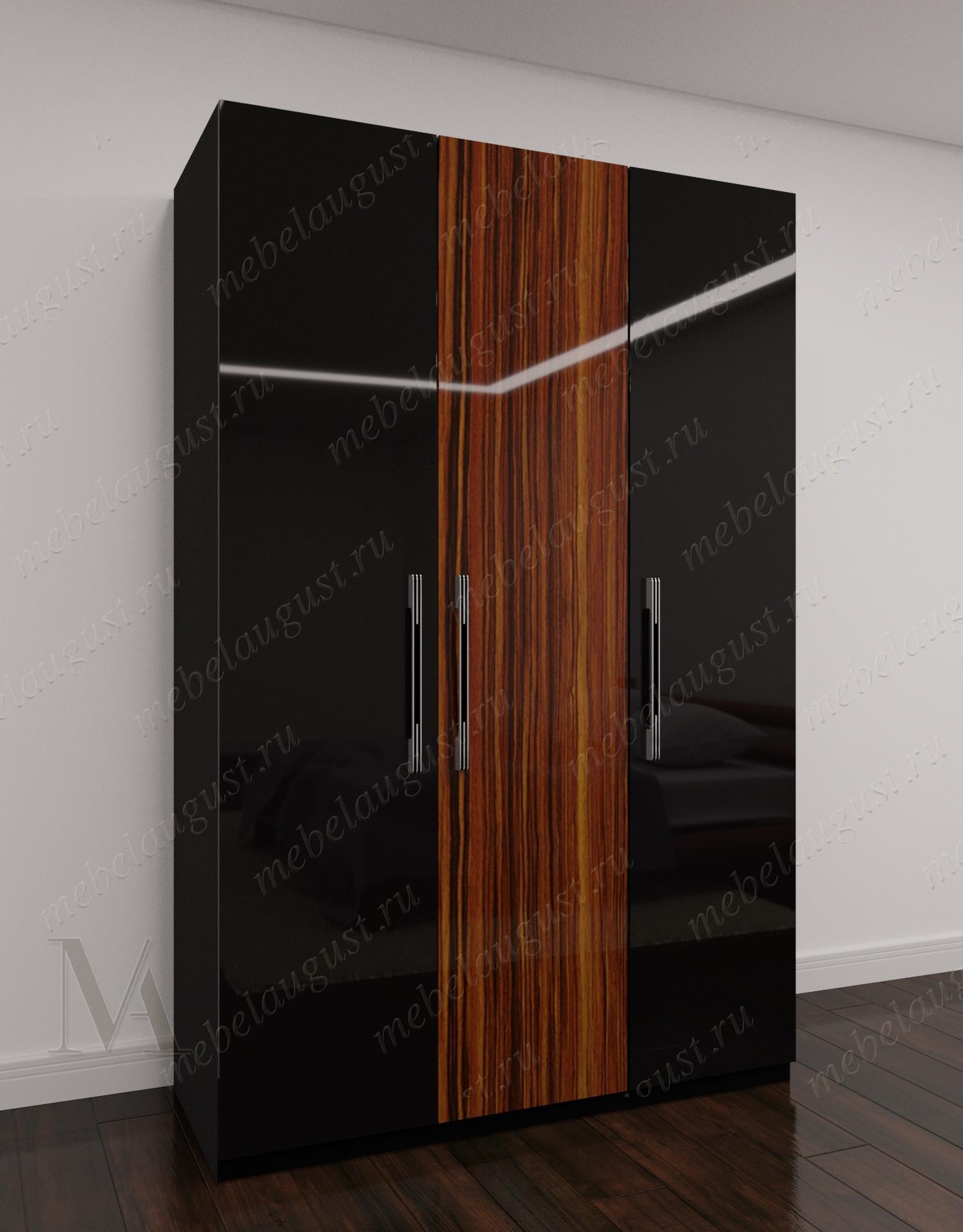 Широкий распашной шкаф для одежды для спальни