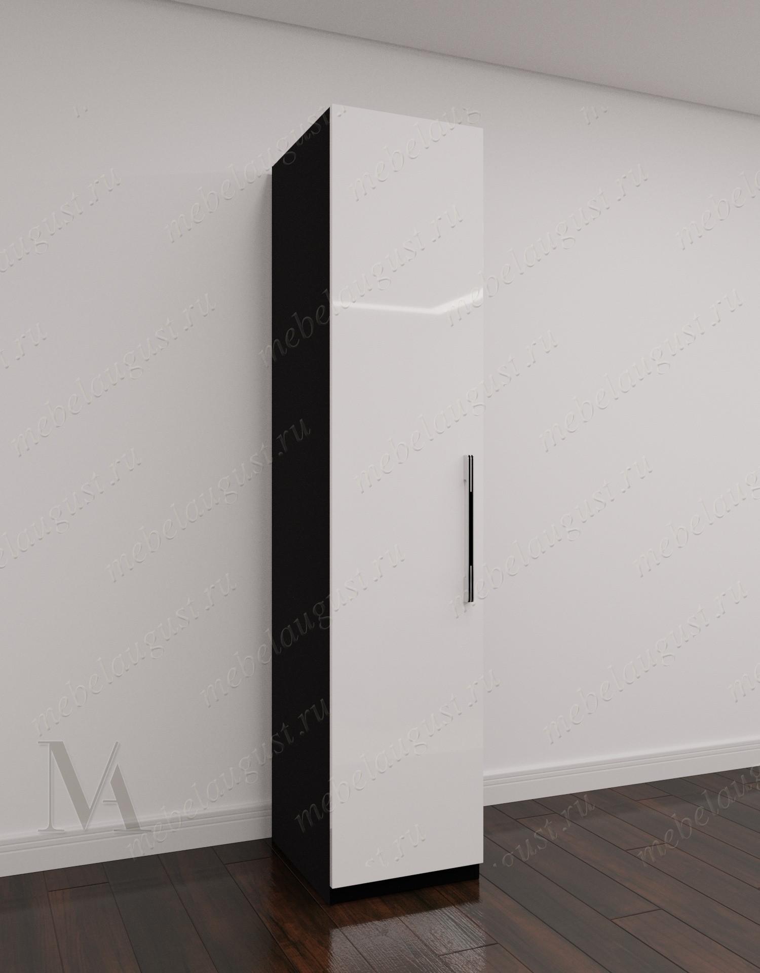 1-створчатый распашной шкаф для одежды для спальни цвета черно-белый глянец