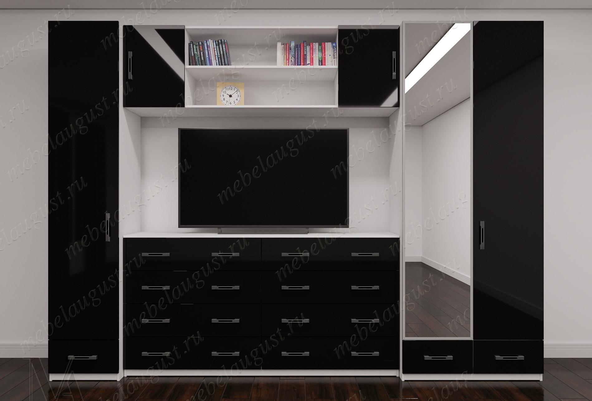 Мебельная стенка под телевизор для спальни