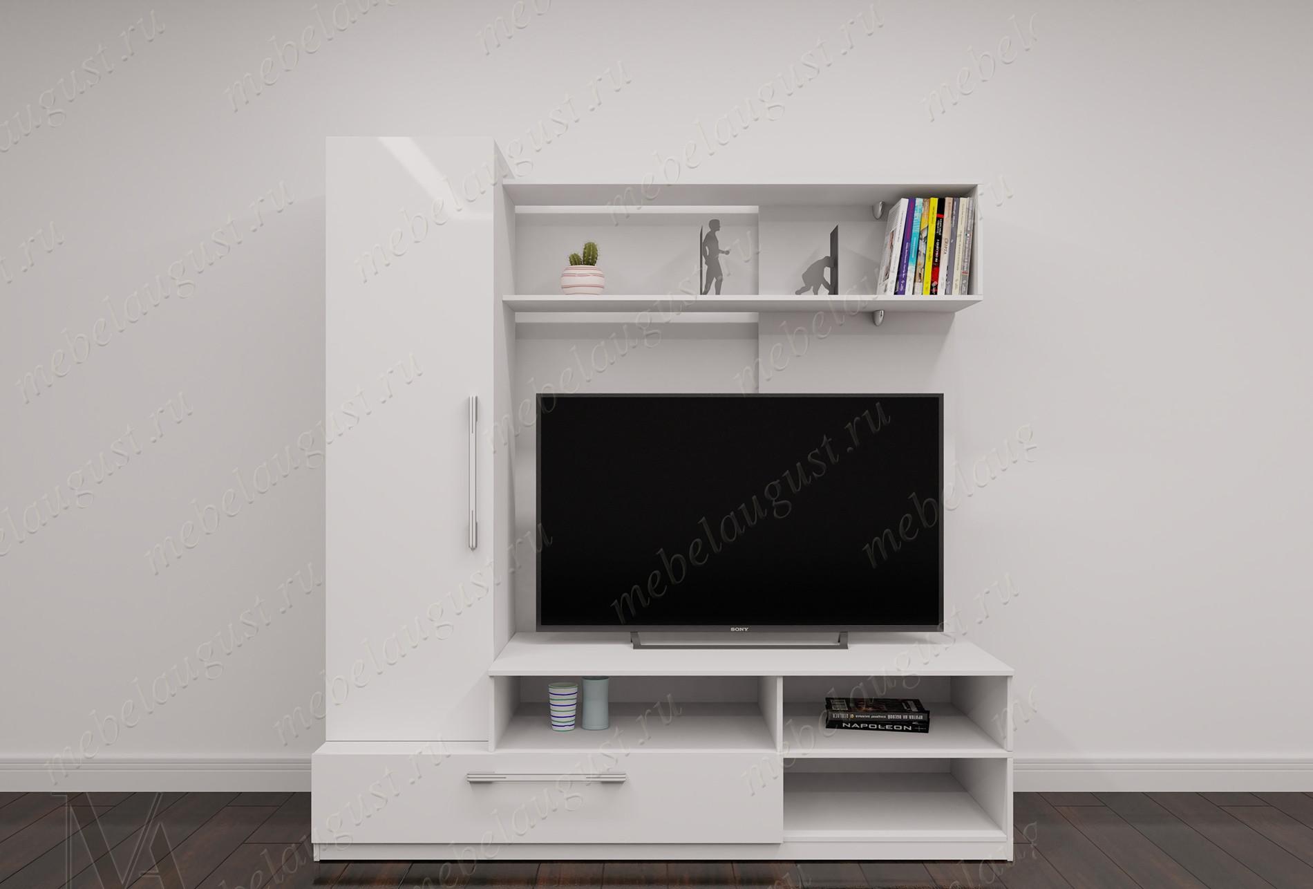 Маленькая мебельная стенка с полкой под телевизор