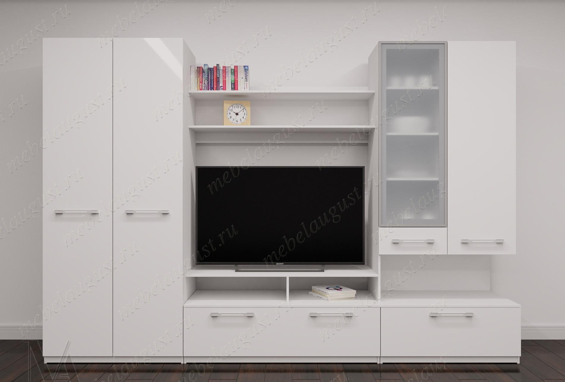 Мебельная стенка с полкой под тв в спальню