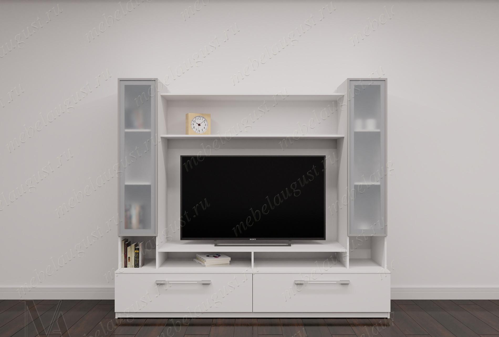 Малогабаритная мебельная стенка с полкой под тв в спальню