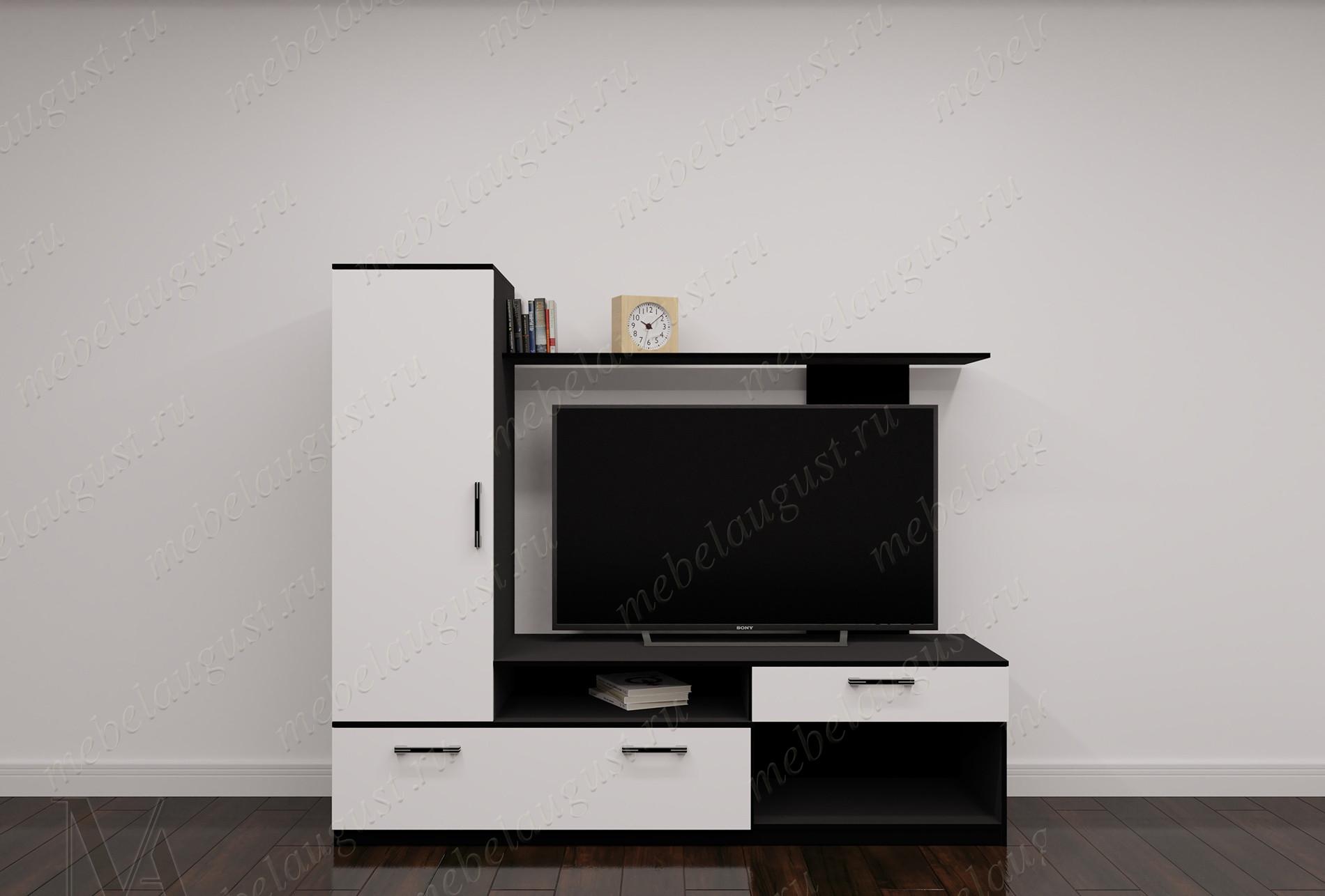 Малогабаритная стенка под телевизор для спальни