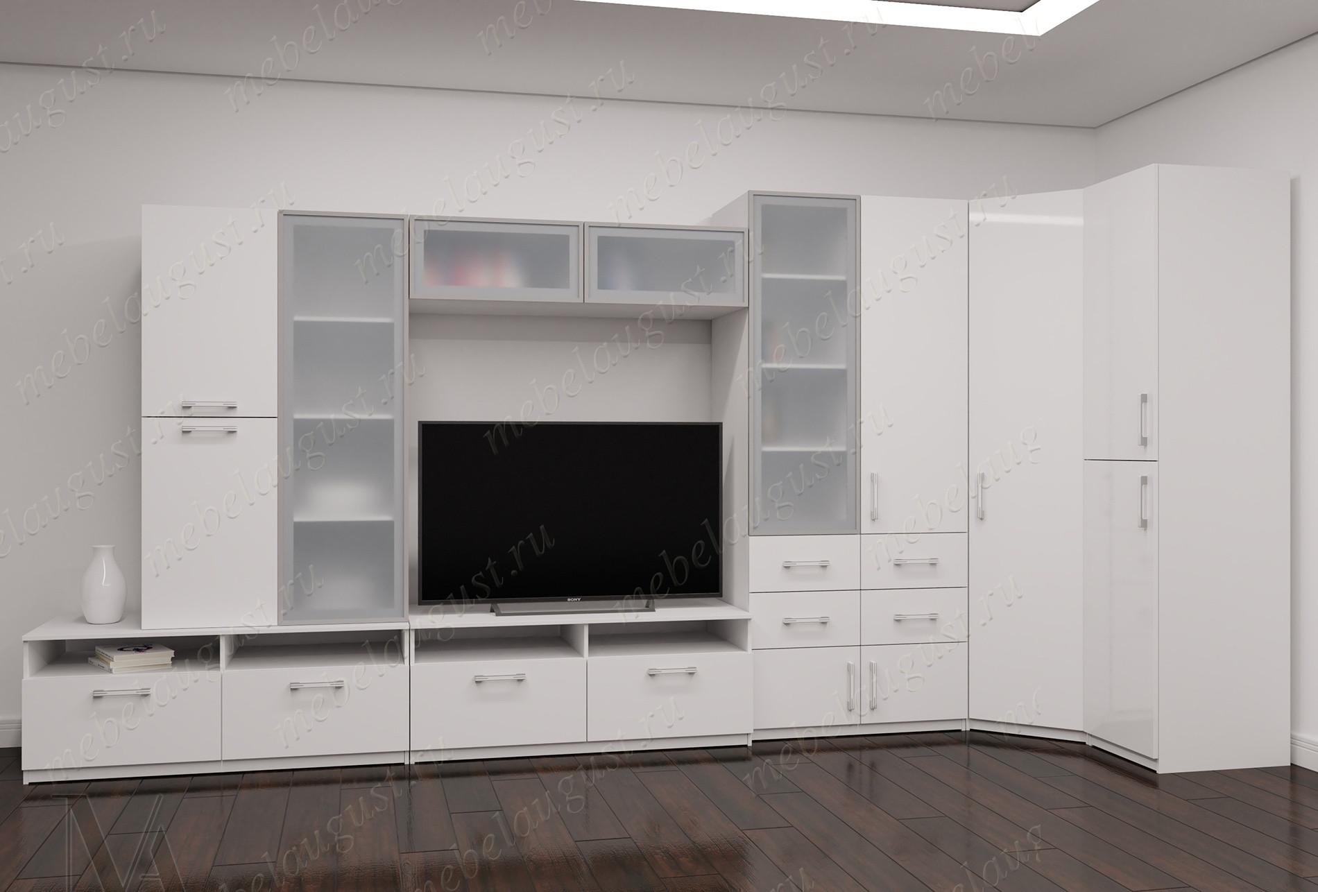 Мебельная стенка с полкой под телевизор