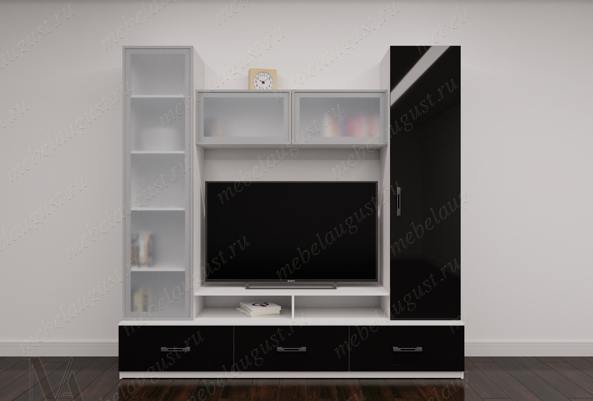 Мини стенка в гостиную под телевизор
