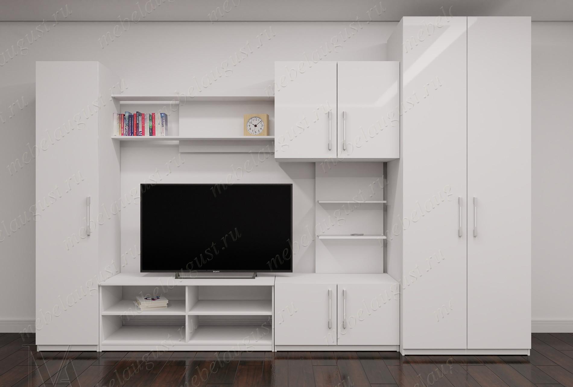 Мебельная стенка для спальни с полкой под тв
