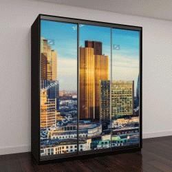 """Шкаф купе с фотопечатью """"Лондон, Англия, банковский район в центральной части """""""