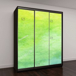 """Шкаф купе с фотопечатью """"Зеленая абстрактная акварель """""""