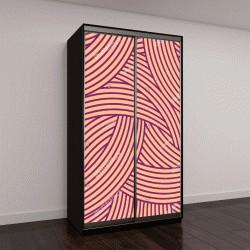 """Шкаф купе с фотопечатью """"бесшовные шаблон, розовые линии"""""""