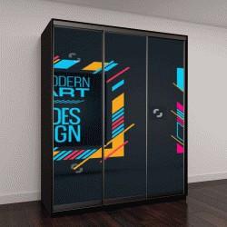 """Шкаф купе с фотопечатью """"разноцветная графика и надписи"""""""