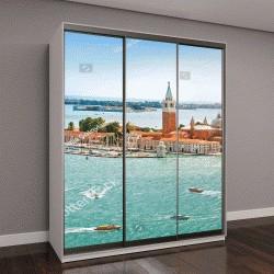 """Шкаф купе с фотопечатью """"Панорамный вид с воздуха на остров Сан-Джорджо Маджоре, Венеция, Италия"""""""