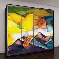 """Шкаф купе с фотопечатью """"изобразительное искусство, яркие абстракции"""""""