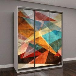 """Шкаф купе с фотопечатью """"геометрический абстрактный узор из различных элементов """""""