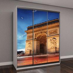 """Шкаф купе с фотопечатью """"Триумфальная арка, Париж на закате """""""