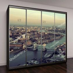 """Шкаф купе с фотопечатью """"Лондон панорамный вид на закате """""""