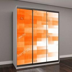"""Шкаф купе с фотопечатью """"оранжевый квадрат, абстрактный фон"""""""