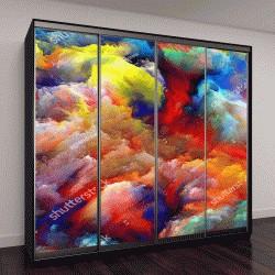 """Шкаф купе с фотопечатью """"Дизайн фона мечтательный форм и цветов на предмет мечты, воображение, фантазию и абстрактное искусство мирах мечтать"""""""