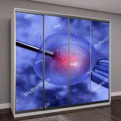 """Шкаф купе с фотопечатью """"3D визуализация оплодотворения яйцеклетки"""""""