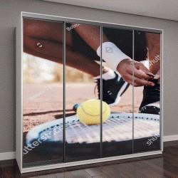 """Шкаф купе с фотопечатью """"Теннисист завязывания спортивной обуви"""""""