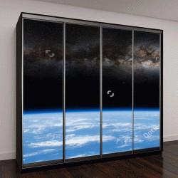 """Шкаф купе с фотопечатью """"Млечный Путь из-за горизонта планеты Земля """""""