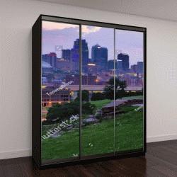 """Шкаф купе с фотопечатью """"панорама Канзас-Сити"""""""