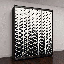 """Шкаф купе с фотопечатью """"Абстрактный геометрический дизайн, треугольники черные"""""""