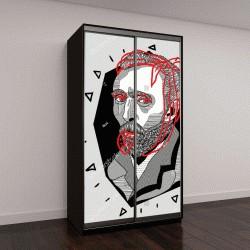 """Шкаф купе с фотопечатью """"портрет Винсента Ван Гога"""""""