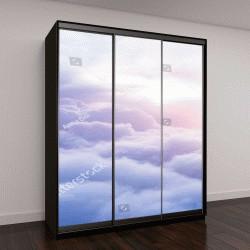 """Шкаф купе с фотопечатью """"Солнечное небо ,белые пушистые облака"""""""